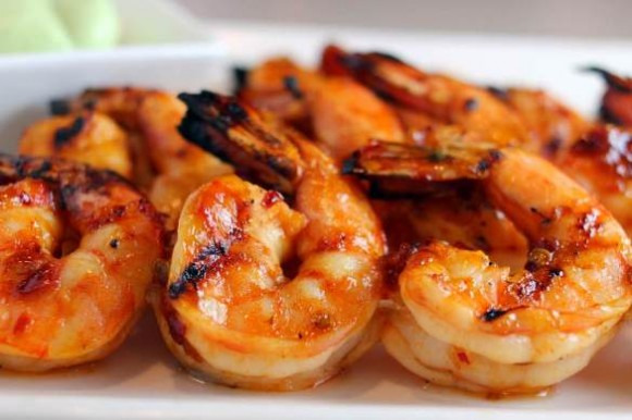 Succulent shrimp are always a popular grilled dish.