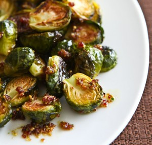 Roasted Brussels sprouts are a wonderful idea for Thanksgiving dinner.