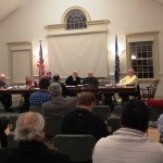 Asif Choudry addresses the Old Lyme Zoning Commission at Monday night's meeting.
