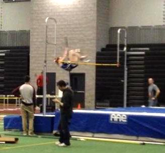 Kaylin Wiese successfully clears the bar in the Class 'S' pole vault.