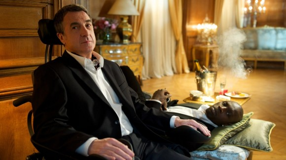 Francois Cluzet, the President of the Cesars, as he appears (left) in Les Intouchables,