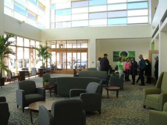 Interior of waiting area of the Outpatient Center.