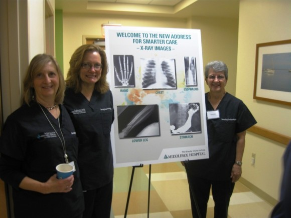 Laurel Patt, Director, Radiology Services; Paula Howley, radiologic technologist; and Kim Carey, radiologic technologist.