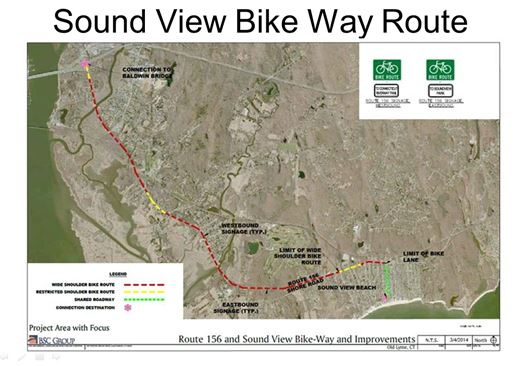 Proposed route of new bike path.