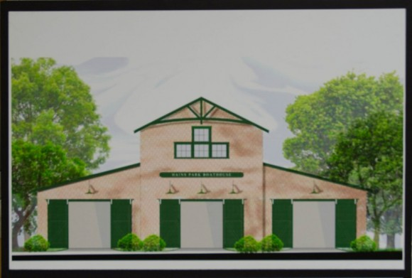 Artist's rendering of the proposed boathouse.