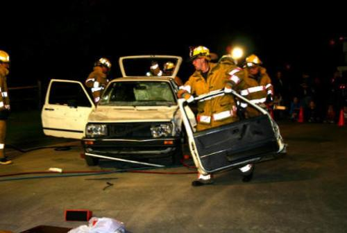 Fire Department members will demonstrate the Jaws of Life at their Open House on Wednesday. File photo.