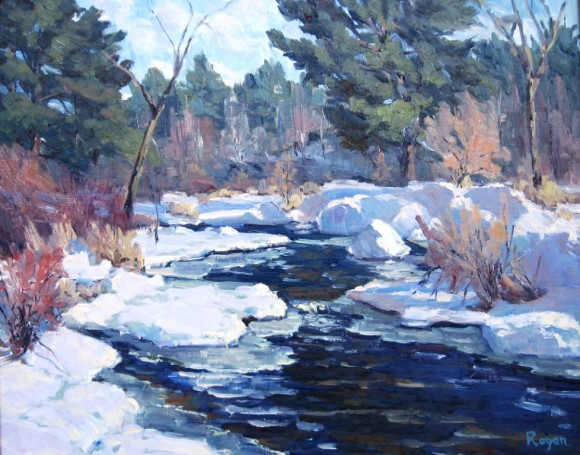 Winter Harmony by Michael Rogan is one of the signature pieces of the 'Wonders of Winter' exhibition opening Friday at the LAA.