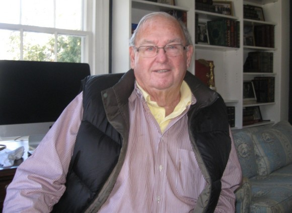 Former Connecticut Governor Lowell Weicker at his home in Old Lyme, Thursday.
