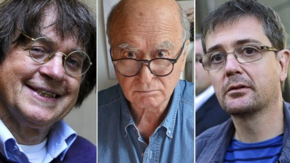 From left to right, Charlie Hebdo victims Cabu, Wolinski and Charb
