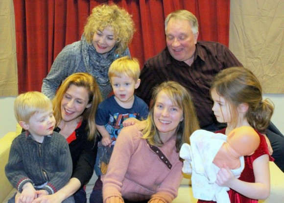 Pictured from top left are Beverley Taylor and Michael Cartwright. From bottom left – Atticus Nischan, Jeanie Rapp, Kase Vradenburgh, Vanessa Vradenburgh, Elle Vradenburgh. Photograph by Anne Hudson