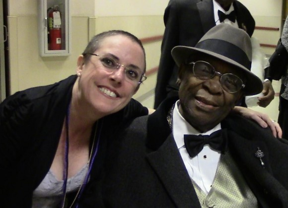"Margaret ""Peggy"" (Carty) Schodowski and BB King."