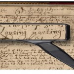 A section of the Loving Parting document, 1665.  Lyme Records, Connecticut State Library.