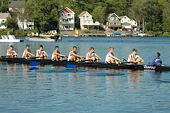 The Phillips Academy team from Andover, mass., competes in the historic Henley Royal Regatta in England.