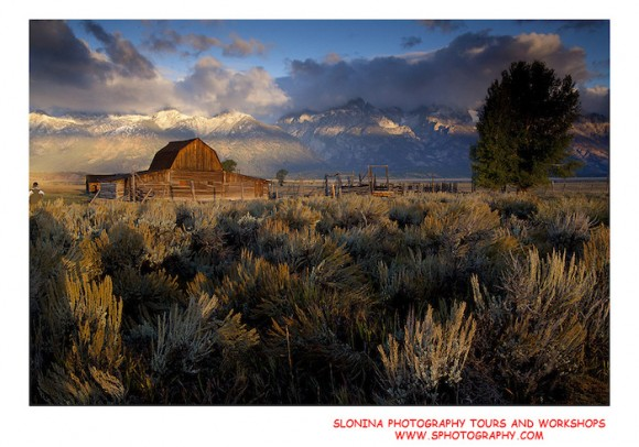 A stunning vista of the Grand Tetons by John Slonina.